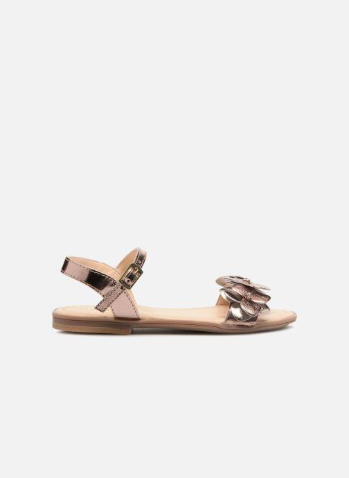 Sandales et nu-pieds Conguitos Carlota Or et bronze vue derrière