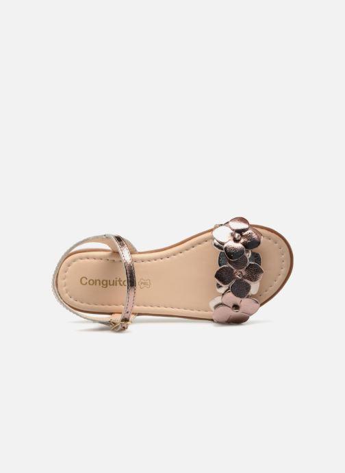 Sandales et nu-pieds Conguitos Carlota Or et bronze vue gauche