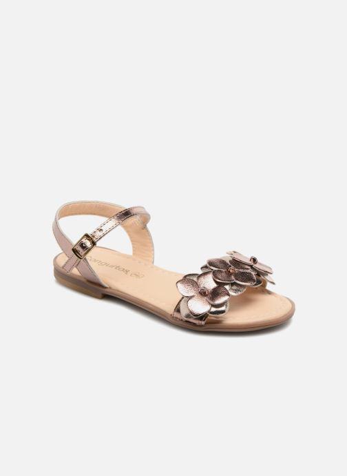 Sandales et nu-pieds Conguitos Carlota Or et bronze vue détail/paire