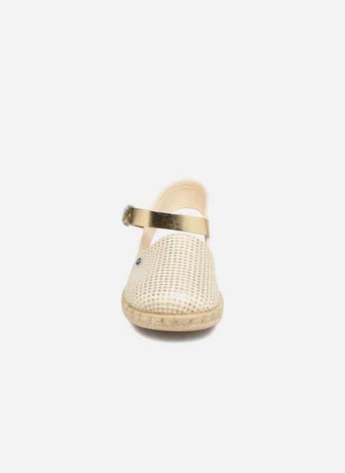 Espadrilles Conguitos Clarisa Beige vue portées chaussures