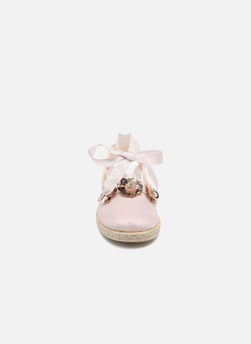 Espadrilles Conguitos Cetus Rose vue portées chaussures
