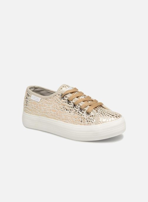 5f11c44abe Trainers Fresas by Conguitos Luna Bronze and Gold detailed view  Pair view