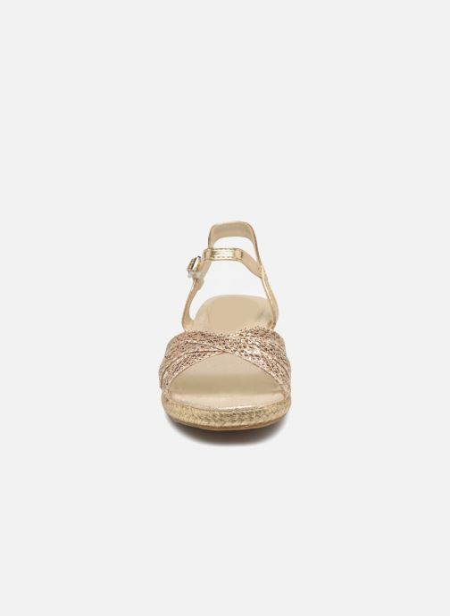 Espadrilles Fresas by Conguitos Ingrid Or et bronze vue portées chaussures
