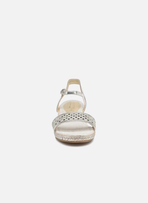 Espadrilles Fresas by Conguitos Juliana Argent vue portées chaussures