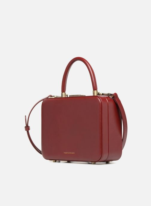 Handtaschen Tammy & Benjamin Vanity Box weinrot schuhe getragen