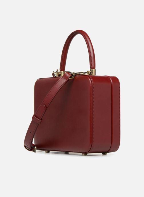 Handtaschen Tammy & Benjamin Vanity Box weinrot ansicht von rechts