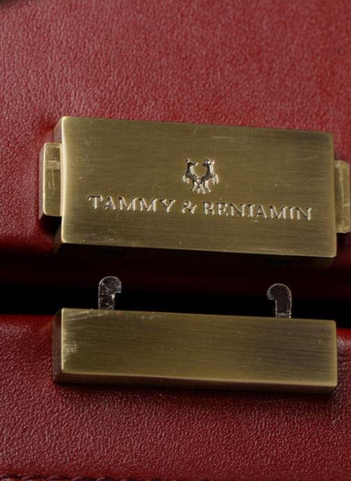 Handtaschen Tammy & Benjamin Vanity Box weinrot ansicht von links