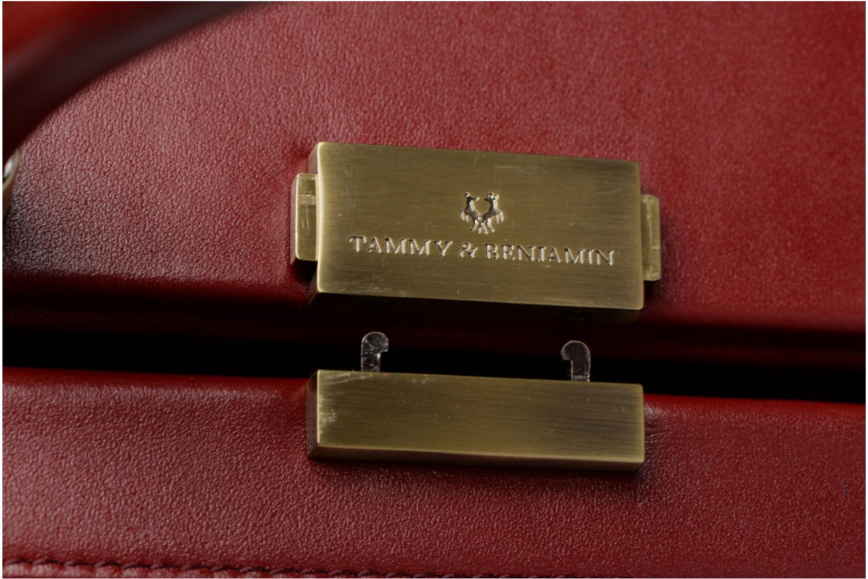 Sacs à main Tammy & Benjamin Vanity Box Bordeaux vue gauche