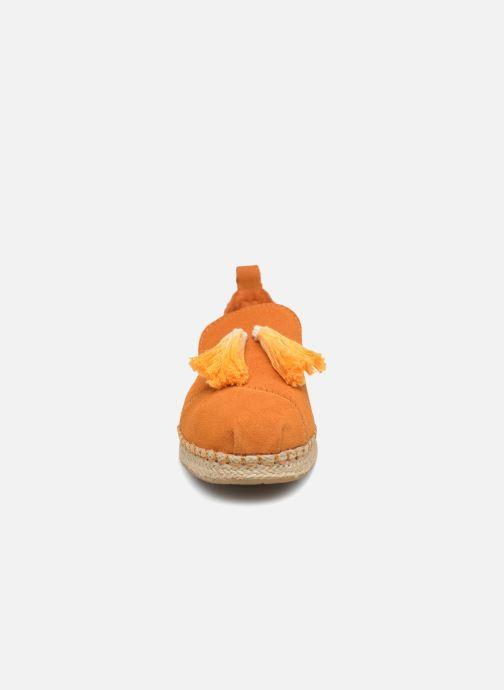 Espadrilles TOMS Deconstructured Alpargata F Jaune vue portées chaussures