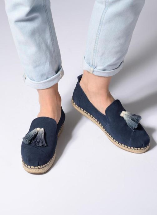 Espadrilles TOMS Deconstructured Alpargata F Blue view from underneath / model view