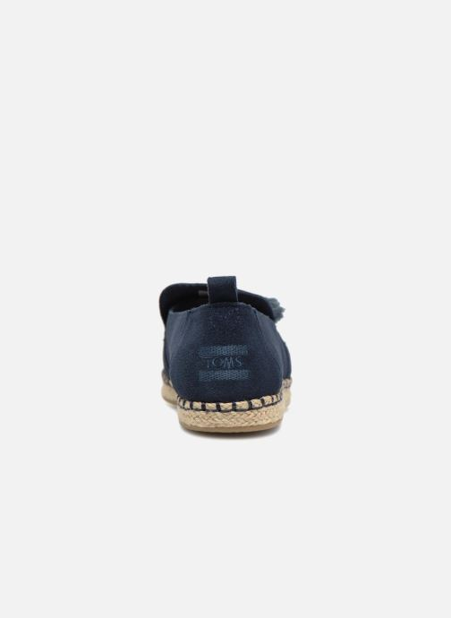 Espadrilles TOMS Deconstructured Alpargata F Blue view from the right