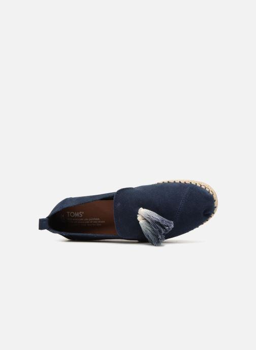 Espadrilles TOMS Deconstructured Alpargata F Bleu vue gauche