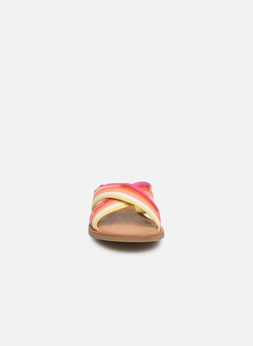 Mules et sabots TOMS Viv Multicolore vue portées chaussures