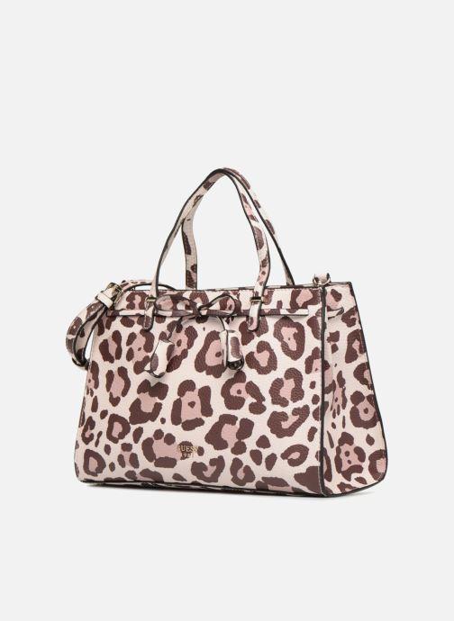 Handbags Guess Leila Satchel Beige model view