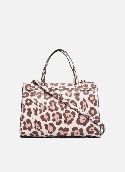 Handbags Guess Leila Satchel Beige front view