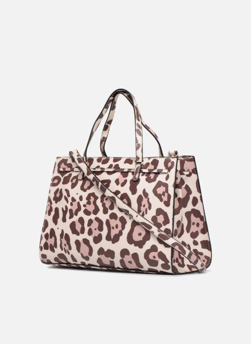 Handbags Guess Leila Satchel Beige view from the right