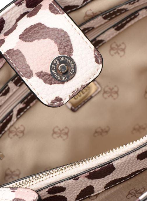 Handbags Guess Leila Satchel Beige back view