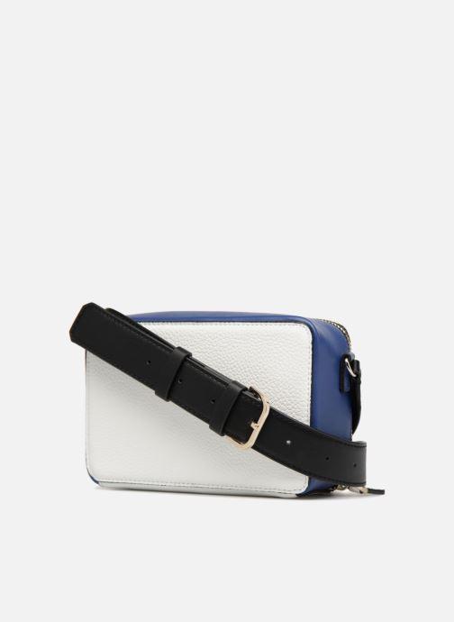 Handbags Guess Dania Mini Crossbody Top Zip White view from the right