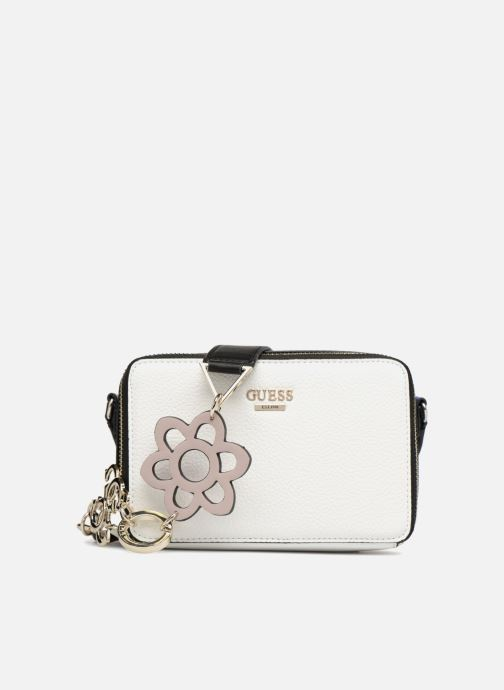 Handbags Guess Dania Mini Crossbody Top Zip White detailed view/ Pair view