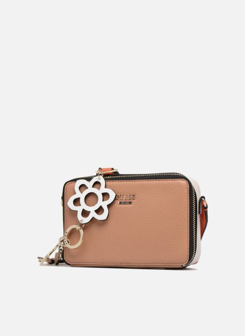 Guess Dania Mini Crossbody Top Zip (marron) - Sacs À Main Chez
