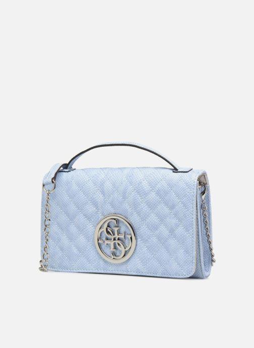 Marroquinería pequeña Guess Glux Mini Wallet Azul vista del modelo