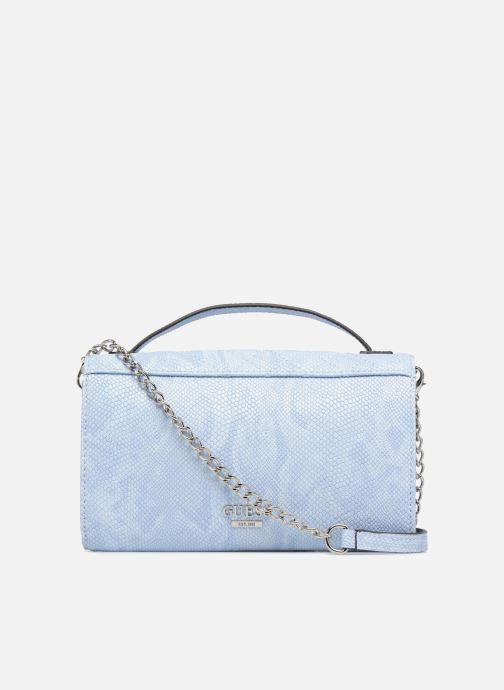 Marroquinería pequeña Guess Glux Mini Wallet Azul vista de frente