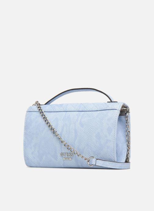 Petite Maroquinerie Guess Glux Mini Wallet Bleu vue droite