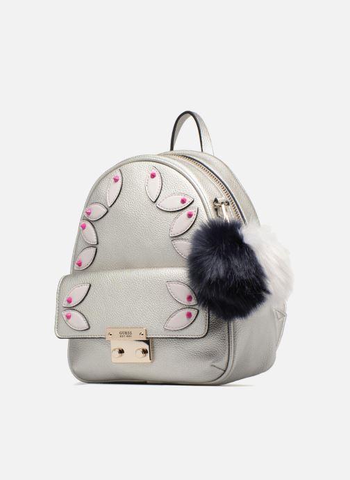 Rucksacks Guess Varsity Pop Small Backpack Silver model view