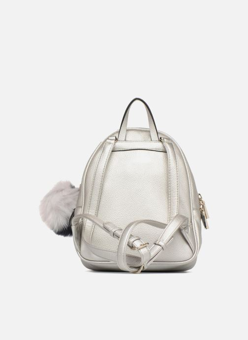 Sacs à dos Guess Varsity Pop Small Backpack Argent vue face