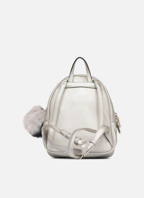 Rugzakken Guess Varsity Pop Small Backpack Zilver voorkant