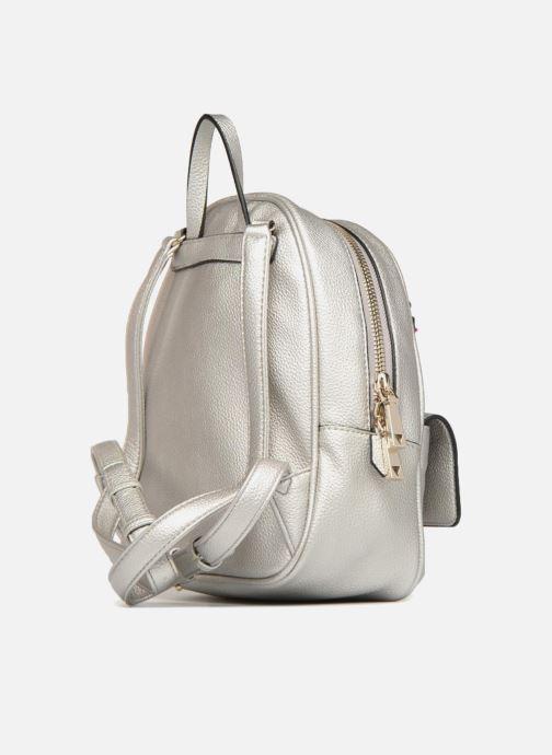 Rugzakken Guess Varsity Pop Small Backpack Zilver rechts