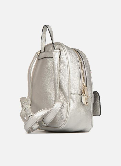 Rucksacks Guess Varsity Pop Small Backpack Silver view from the right