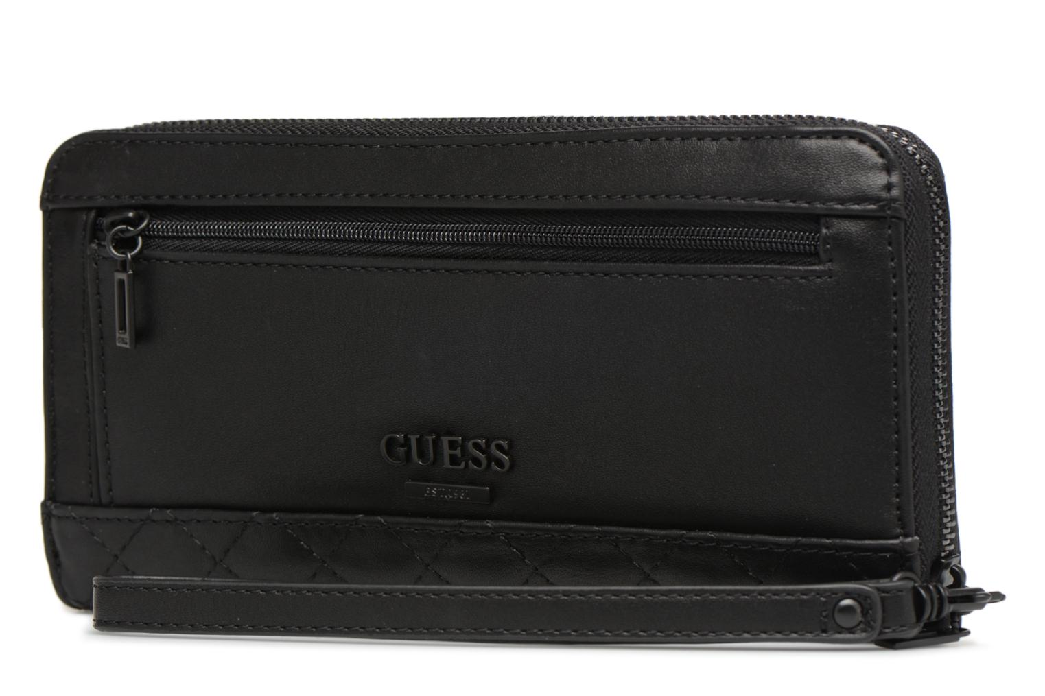 Large Black Guess Lux Zip Around G RZxnwqp4A