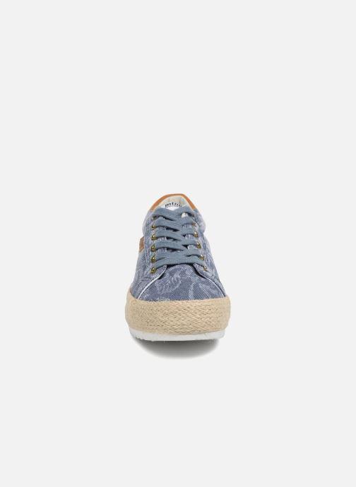 Espadrilles MTNG Caribe Bleu vue portées chaussures