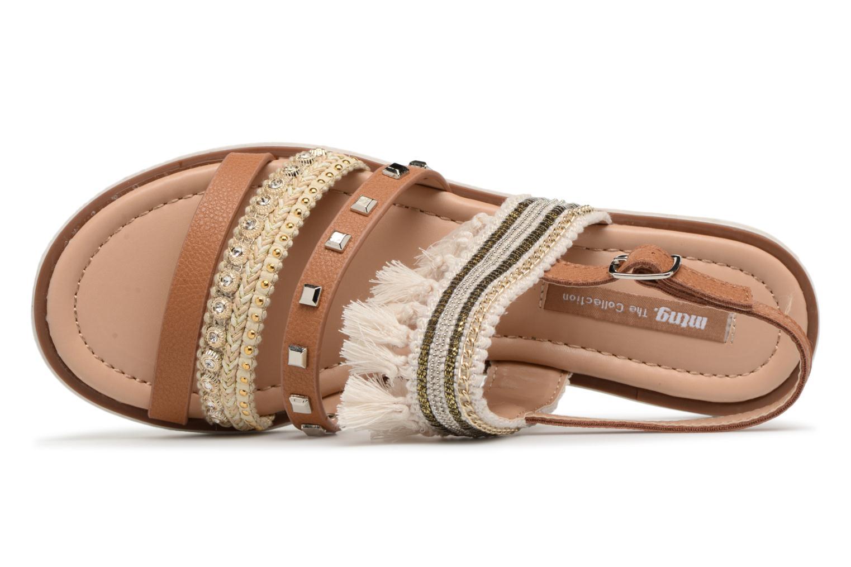 Sandales et nu-pieds MTNG Carli Marron vue gauche