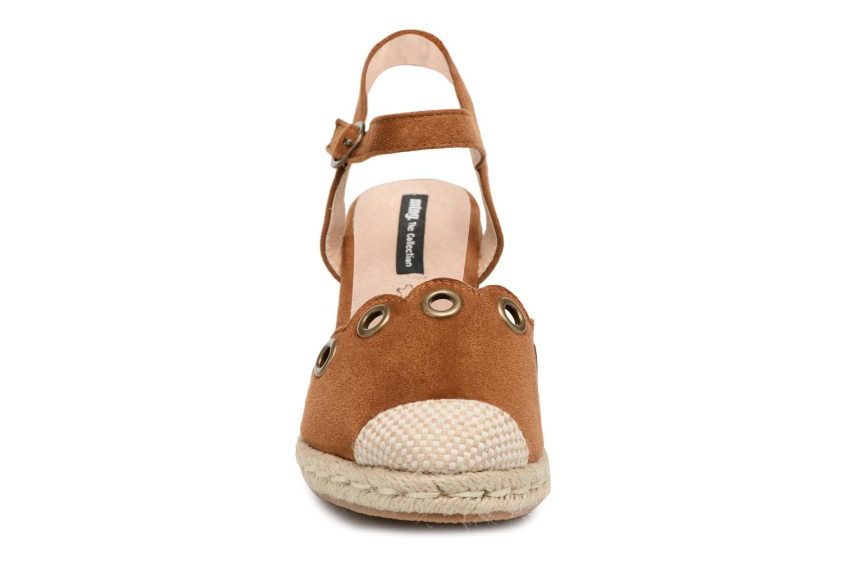 Espadrilles MTNG Palm Marron vue portées chaussures