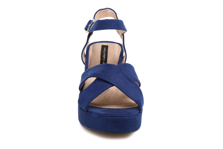 Sandales et nu-pieds MTNG Isquina Bleu vue portées chaussures