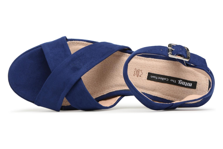 Sandales et nu-pieds MTNG Isquina Bleu vue gauche