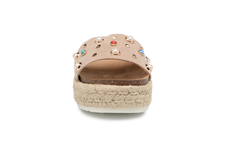 Espadrilles MTNG Perla Beige vue portées chaussures