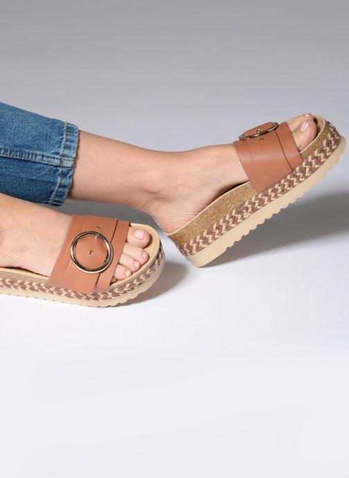 Clogs & Pantoletten MTNG Dakota braun ansicht von unten / tasche getragen