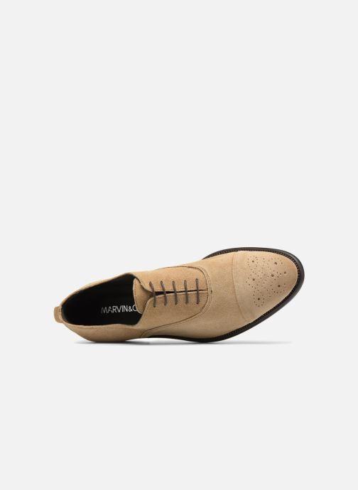 Chaussures à lacets Marvin&Co Duck Beige vue gauche