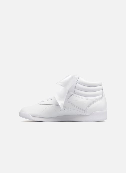 Baskets Reebok Freestyle Hi Satin Bow Blanc vue face