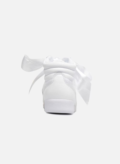 Trainers Reebok Freestyle Hi Satin Bow White view from the right