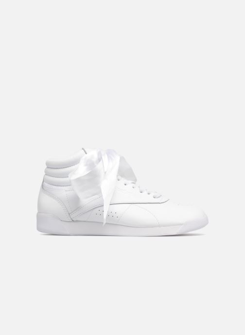 Baskets Reebok Freestyle Hi Satin Bow Blanc vue derrière