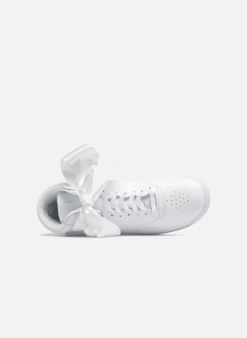 Baskets Reebok Freestyle Hi Satin Bow Blanc vue gauche