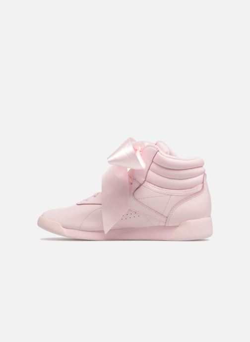 Trainers Reebok Freestyle Hi Satin Bow Pink front view