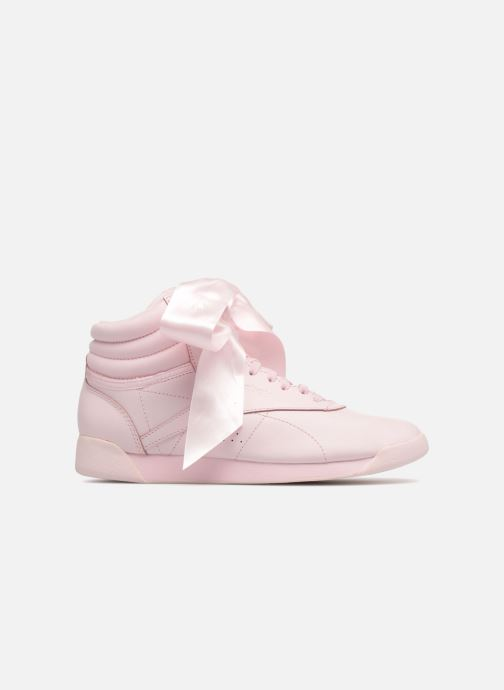 Trainers Reebok Freestyle Hi Satin Bow Pink back view