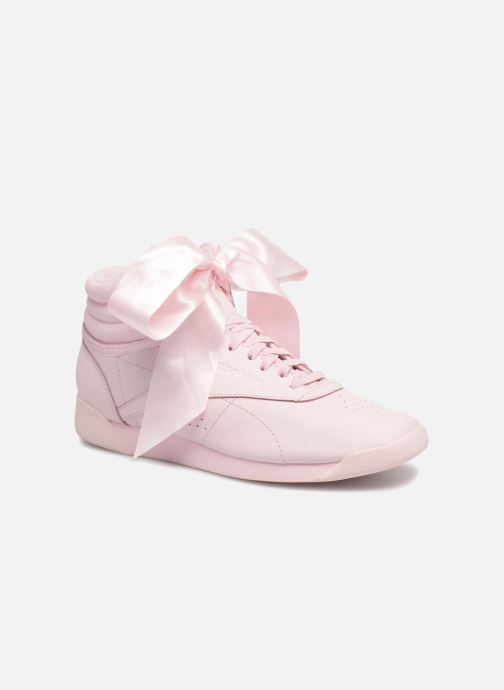 Trainers Reebok Freestyle Hi Satin Bow Pink detailed view/ Pair view