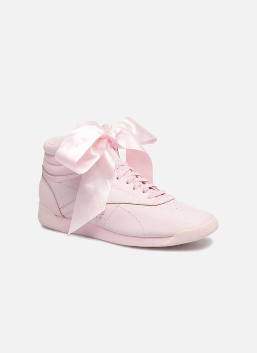 eda6879be26 Reebok Freestyle Hi Satin Bow (Pink) - Trainers chez Sarenza (315905)