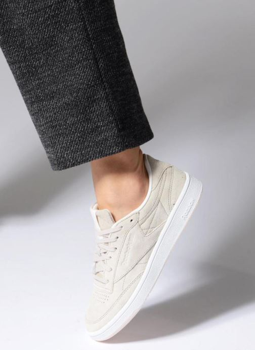 Sneaker Reebok Club C 85 Tonal Nbk grau ansicht von unten / tasche getragen
